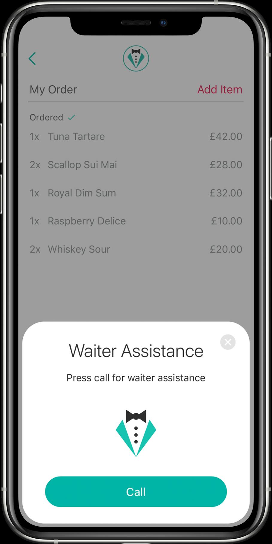 6. blinq app Waiter Assistance